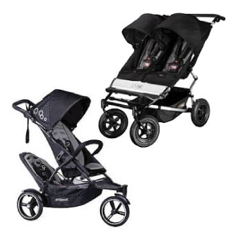 Deluxe Twin Jogger Pram Hire For Baby
