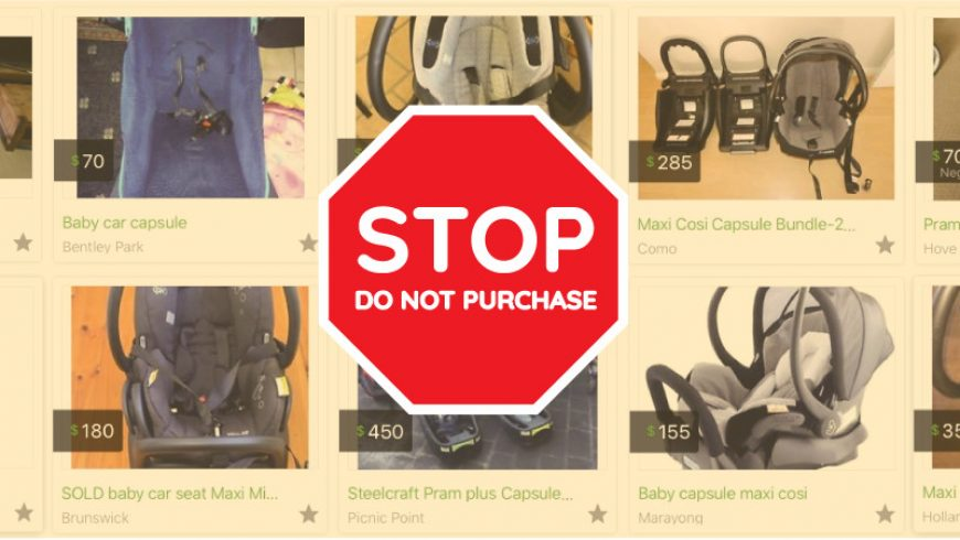 Second Hand Restraints – Do Not Purchase Advice from Kidsafe Victoria