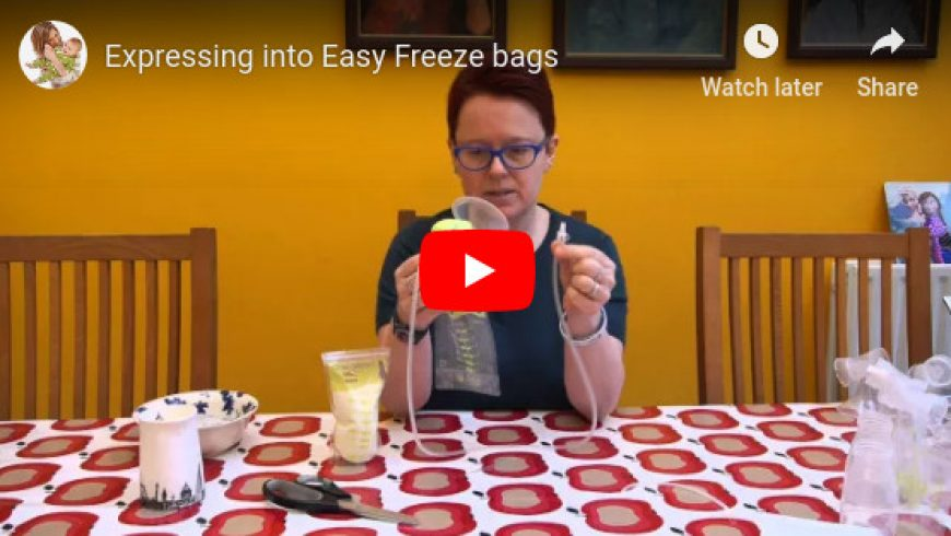 Expressing Into Easy Freeze Bags by Ardo
